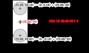 コンポーネントX1の配置