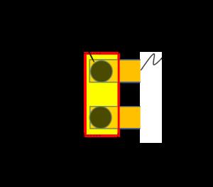 並走配線の両端に配置する端子